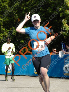 "The only decent photo from the race. (To quote Adrea: ""You look drunk ... day drunk"" in most of the pics.)"