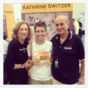 Mags with the legendary Kathrine Switzer and Roger Robinson.