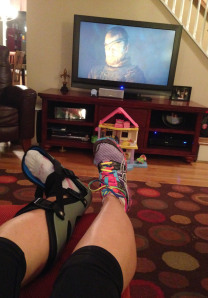 Wearing my boot, watching Game of Thrones, living the life.
