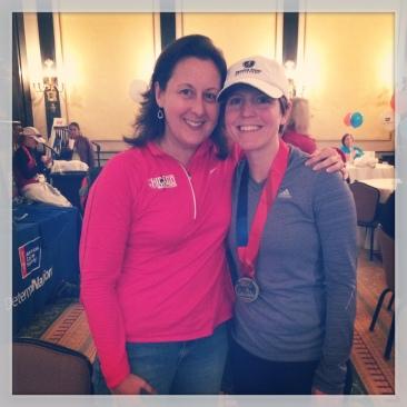With my race day hero, Jennifer