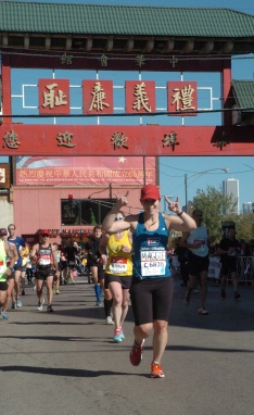 Feeling fine in Chinatown (mile 21-22)!