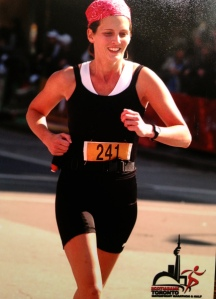 Rockin' the Toronto Waterfront Marathon, my first ever.