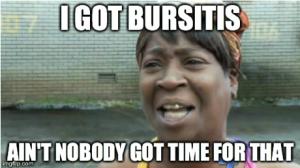 bursitis meme
